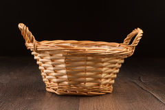 Vintage  wicker basket Royalty Free Stock Images