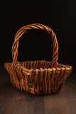 Vintage  wicker basket Stock Photos