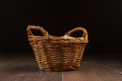 Vintage  wicker basket Royalty Free Stock Photography