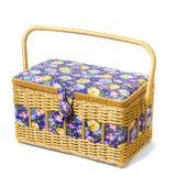 Vintage wicker basket isolated on white background Stock Photography