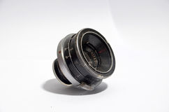 Vintage  wide angle lens on white    background Royalty Free Stock Image