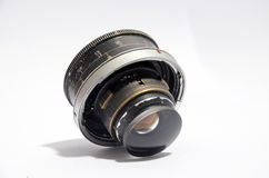 Vintage  wide angle lens on white    background Stock Photo