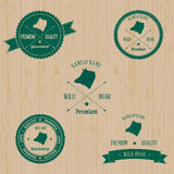 Vintage Wild Boar Badge set Royalty Free Stock Image