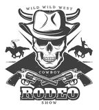 Vintage Wild West Rodeo Template Royalty Free Stock Images