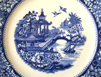 Free Vintage Willow Pattern Background Stock Photography - 12577292