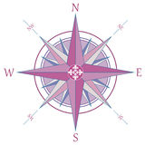 Vintage wind rose compass Stock Image