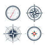 Vintage wind rose compass set.  vector design of wind ro Royalty Free Stock Images
