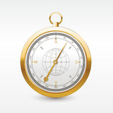 Vintage wind rose golden compass.  vector wind rose Stock Image