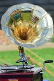 Vintage wind up gramophone player Royalty Free Stock Photo