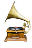 Vintage wind-up gramophone record player Royalty Free Stock Photography