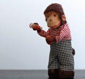 Vintage wind-up toy monkey Royalty Free Stock Photo
