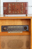 Vintage Winder Clock And Music Juke Box Royalty Free Stock Photos