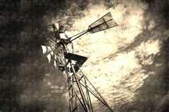 Old Windmill Abstract Background Royalty Free Stock Photography