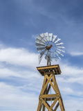 Vintage Windmill Against A Blue Sky Royalty Free Stock Images