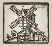 Vintage windmill Stock Photos