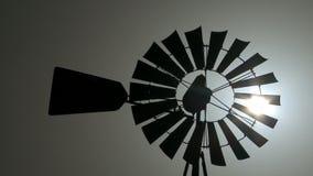 Vintage Windmill stock video