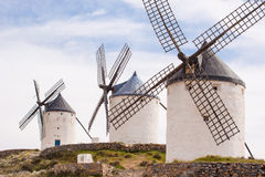 Vintage windmills in La Mancha. Royalty Free Stock Photography