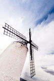 Vintage windmills in La Mancha. Royalty Free Stock Photo