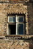 Vintage Window. Grungy window in old tenement house in Poland Stock Photos