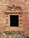 Vintage window in ancient monastery Royalty Free Stock Image