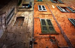 Vintage window background Italy. Bergamo Royalty Free Stock Photo