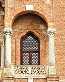 Vintage window with balcony. Detail of the Palace Mogosoaia stock photography