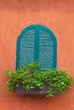 Vintage window. Beautiful Vintage window on the old wall Royalty Free Stock Photo