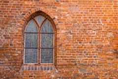 Vintage window on brick wall Stock Photos