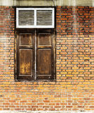 Vintage window on brick wall Stock Photography
