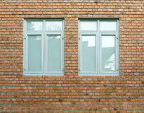 Vintage window on brick wall Royalty Free Stock Images