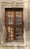 Vintage window of building. The decorated window of the old building Stock Image