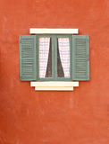 Vintage window on cement wall royalty free stock photos
