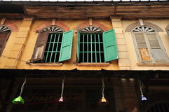 Vintage window at CHANTHABOON WATERFRONT COMMUNITY, Chanthaburi province, Thailand Stock Images