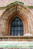 Vintage window in Church of St James the Apostle in Torun. Poland royalty free stock images