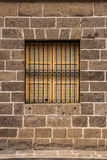 Vintage window and grille. Royalty Free Stock Image