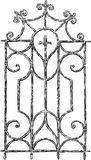 Vintage window grille. Vector sketch of an antique window lattice Royalty Free Stock Images