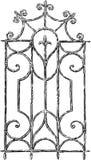 Vintage window grille. Vector sketch of an antique window lattice vector illustration