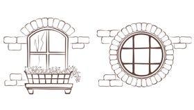 Vintage window vector illustration