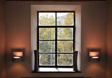 Vintage window interior design Stock Image