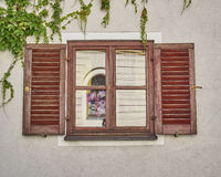 Vintage window, Munchen, Germany Royalty Free Stock Photos