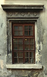 Vintage window of old building. The decorated window of the old building Royalty Free Stock Photo