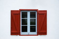 Vintage window with open shutters Royalty Free Stock Images