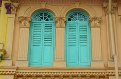 Vintage window in Singapore Royalty Free Stock Image