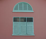 Vintage window in Singapore Stock Image