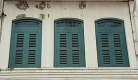 Vintage window in Singapore Stock Photo