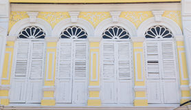 Vintage window or Sino-Portuguese style in Phuket, Thailand Royalty Free Stock Photography