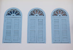 Vintage window or Sino-Portuguese style in Phuket, Thailand Stock Photography