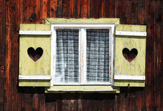 Vintage window. In a small German village Royalty Free Stock Photos