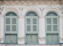 Vintage window on wall Stock Photo
