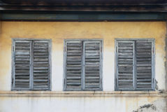 Vintage window on wall Stock Photography